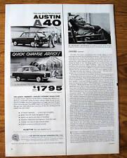 1959 Austin A40 Ad  New Pinin Farina Styled