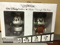 """Mickey Through the Years Plane Crazy and The Band Concert 3"""" Vinylmation Set 2"""
