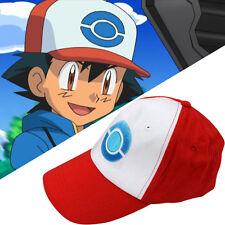 US Pokemon Ash Ketchum Hat Anime Cosplay Costume Sport Curved Visor Baseball Cap