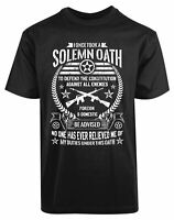 Solemn Oath Defend the Constitution USA American New Mens Shirt Foreign Domestic