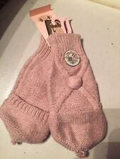 Dusty pink Juicy Couture girls mittens One size