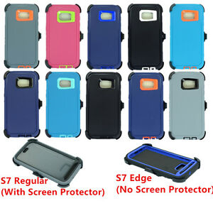 For Samsung Galaxy (S7 & S7 Edge)Case Cover (Belt Clip Fits OtterBox Defender)