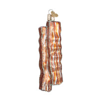 """Bacon Strips"" (32208)X Old World Christmas Glass Ornament w/OWC Box"