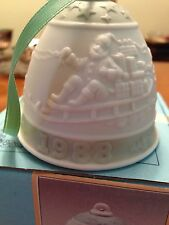Lladro Vintage Christmas Bell with box.1988 edition Santa on Sleigh