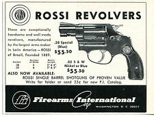 1968 small Print Ad of Firearms International FI Rossi .38 Special Revolver