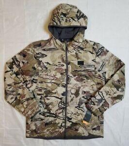 Under Armour Mens Sz L Barren Camo Brow Tine Jacket 1355316-999 Storm Mid Season