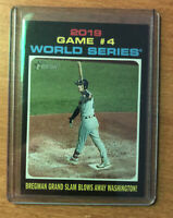 2020 Topps Heritage Alex Bregman Game 4 World Series French Text Back #330 SP
