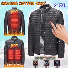 USB Electric Heated Jacket Coat Winter Body Warmer Heating Outwear Waterproof UK