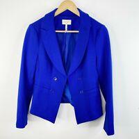 Laundry By Shelli Segal Womens Size 8 Blue Jacket Blazer Career Work