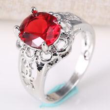 Trendy Women Jewelry 925 Silver Ring Turquoise Gemstone Wedding Size 6-10