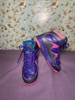 Size 6.5 YOUTH | Nike Air Jordans Purple Leather Retro 2013