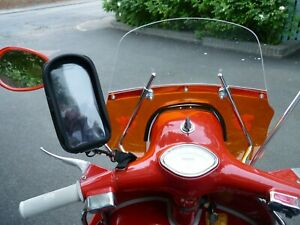 Vespa Large Smartphone Mobile Phone Holder with Waterproof cover Clamp on Mirror