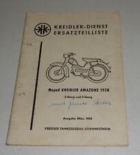 Teilekatalog / Ersatzteilliste Kreidler Amazone 2- / 3-Gang Moped Stand 03/1958
