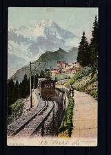 Seltene Ansicht der Mürrenbahn gelaufen 1906 nach Schweinfurt