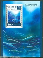 SOLOMON ISLANDS 2014 BARRACUDAS SOUVENIR SHEET MINT NH