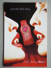 Giveth this day our daily Rush wild strawberry Avant Card #4423 Postcard (P190)