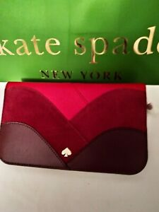Kate Spade Nadine Medium Patchwork Clutch Wallet.