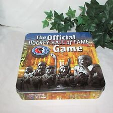 THE OFFICIAL HOCKEY HALL OF FAME BOARD GAME COMPLETE UNPLAYED IN TIN BOX TRIVIA