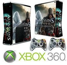 Console xbox 360 slim Autocollant peau assassins style peau & 2 x contrôleur de peaux