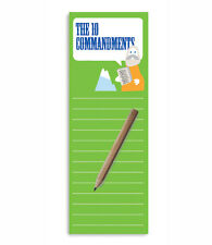 The 10 Commandments Magnetic To-Do List Notepad & Pencil by T Squared