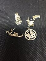 VINTAGE ASIAN CHINESE SILVER CHARMS