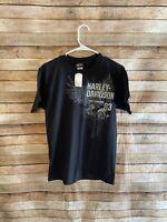 Harley Davidson Mens Las Vegas Short Sleeve Black Graphic Tee TShirt Small New