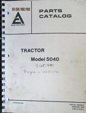 ALLIS - CHALMERS  Parts Catalogue Manual Model 5040 Tractor 1983 ORIGINAL