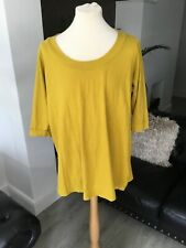 Ladies Yours Long Top Size 22/24 Mustard  Colour Smart Flattering Top