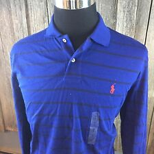 POLO BY RALPH LAUREN LONG SLEEVE STRIPED BLUE  SHIRT MENS LARGE  NWOT