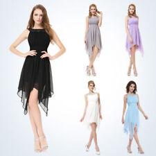 Chiffon Halter Sleeve Solid Dresses for Women
