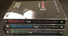 P. C. Cast House of Night 3 Book Lot~Betrayed~Marked~Tempted~Kristin Cast
