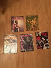 LOT OF 4 Jimi Hendrix cover magazines! Plus b/w postcard (top Right Mag Is Sold)