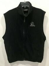 Ducks Unlimited Men's Full Zip XL Black Fleece Sleeveless Vest Weather Perfect