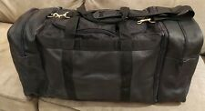 de sede authentic leather Travel Black Nylon Duffle Bag w/ backpack. 28x13x14in