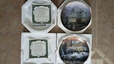 "2 Thomas Kinkade's ""Old Fashioned Christmas"" Bradford Exchange Collector Plates"