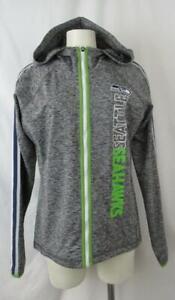 Seattle Seahawks Womens Medium Full Zip Hooded Performance Sweatshirt ASSE 124