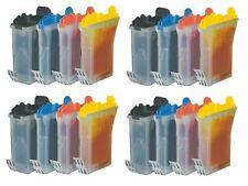 16 x Tinte für Brother FAX 1815C 1820C 1920CN / LC-800BK LC-800C LC-800M LC-800Y