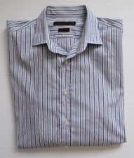 Etro Milano Mens 44 Shirt Slim Fit Button Up Striped Purple Lilac White