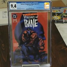 BATMAN VENGEANCE OF BANE 1 CGC 9.4 AND ISSUE 2 AND 2ND APPEARANCE AND KNIGHTFALL