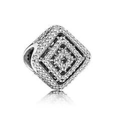 NEW! Authentic Pandora Geometric Lines Clear CZ Charm #796211CZ $80
