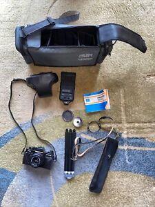 Praktica Kamera mit Zubehör