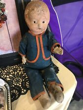 Antique Creepy Doll 9� Tall Decoration Gothic Vintage Composite Fabric Gift