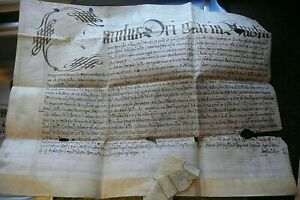 ANTIQUE CHARLES 1 1630 LATIN ? DOCUMENT VELLUM PARCHMENT PAPER.