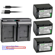 Kastar Battery Dual Charger for Sony NP-FV70 Sony HDR-CX200 HDR-CX210 HDR-CX220
