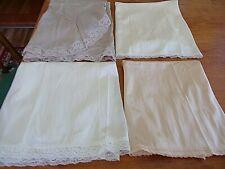 Lot Of (4) Vintage Lace Half Slips~Size Sm.~Cream~Beige~Ecru~