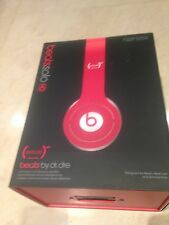 Headphones Dr Dre Beats RRP£160 Special Edition Solo HD in Red, black carry case