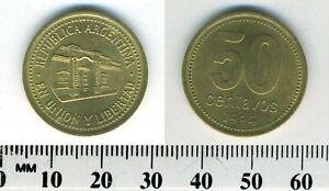 Argentina 1994 - 50 Centavos Aluminum-Bronze Coin - Tucuman Province Capital -#1