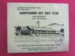 Vintage 1960s RARE Guantanamo Bay Golf Club Scorecard U.S. Naval Base US Navy