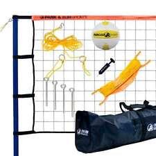 Park & Sun Spiker Sport Steel Orange Outdoor Volleyball Net Set w/Bag (Open Box)
