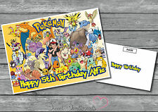 Personalised Pokemon Birthday / Any Greetings Card A5 Your Name (S2)